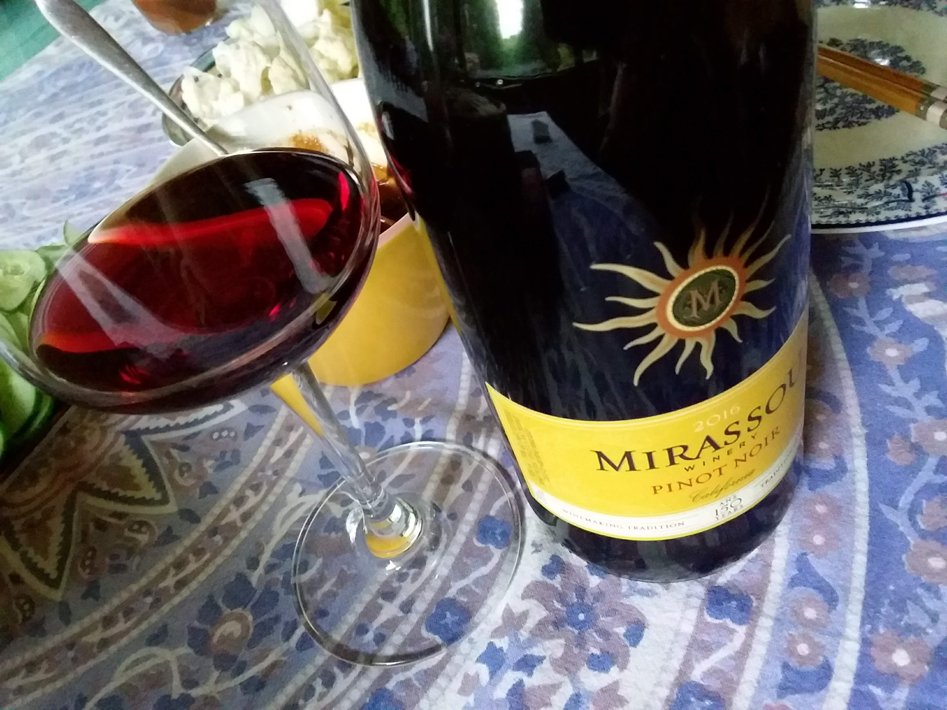 カリフォルニアMirassou Pinot Noir 2016