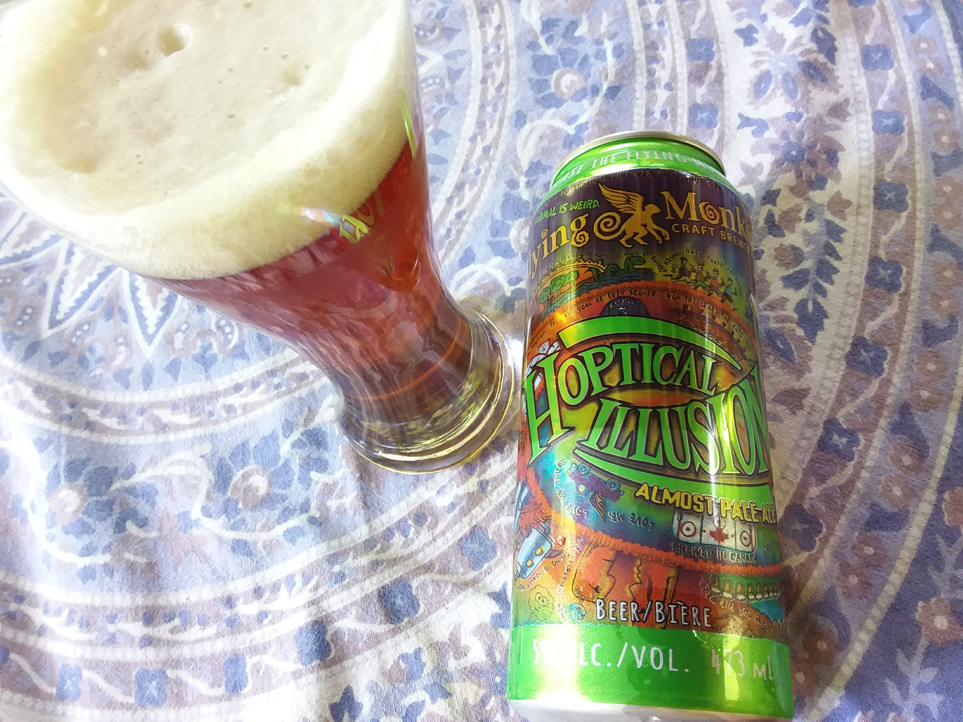 Flying Monkey Hoptical Illusion Almost Pale Ale